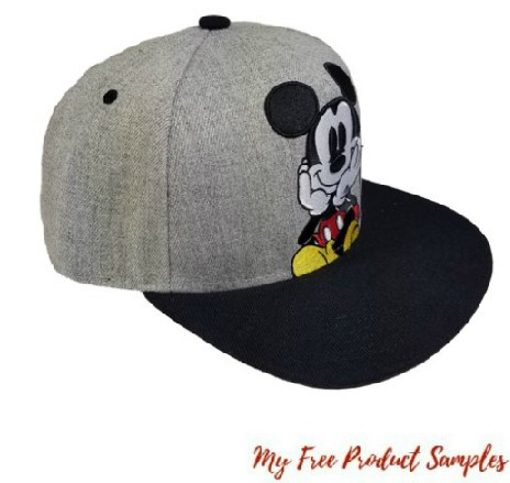 Walmart Disney Mens Mickey Mouse Embroidered Flat Bill Hat For 2