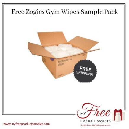 Free Zogics Gym Wipes Sample Pack