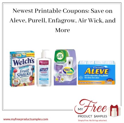graphic regarding Purell Printable Coupons known as Most current Printable Discount coupons: Help save upon Aleve, Purell, Enrow