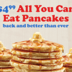 FREE All You Can Eat Pancakes with Any Breakfast Combo at IHOP
