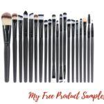 20 Pieces Makeup Brush Set $7.99