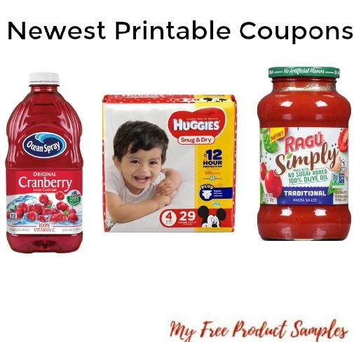 graphic regarding Printable Coupons for Huggies Diapers named Most recent Printable Discount codes: Huggies Diapers, Ocean Spray, Ragu
