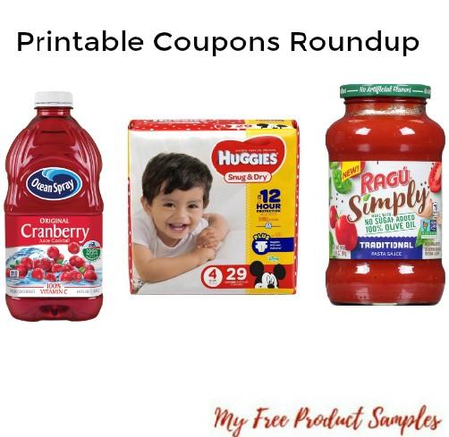 photograph regarding Ragu Printable Coupons identify Printable Coupon codes Roundup: Huggies Diapers, Ocean Spray