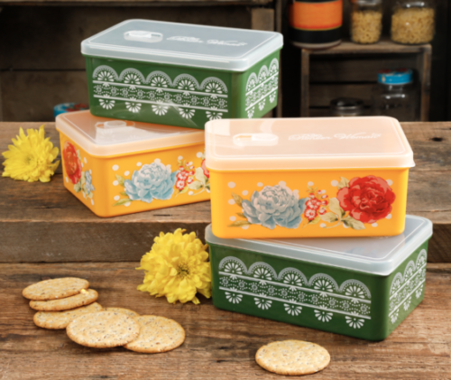 Walmart: The Pioneer Woman Fall Sale 68oz Assorted Rectangular Containers for $9.97 (reg. $19.99)