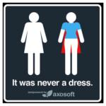 FREE It Was Never A Dress Sticker
