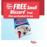 Free Small Blizzard Treat with the Dairy Queen App