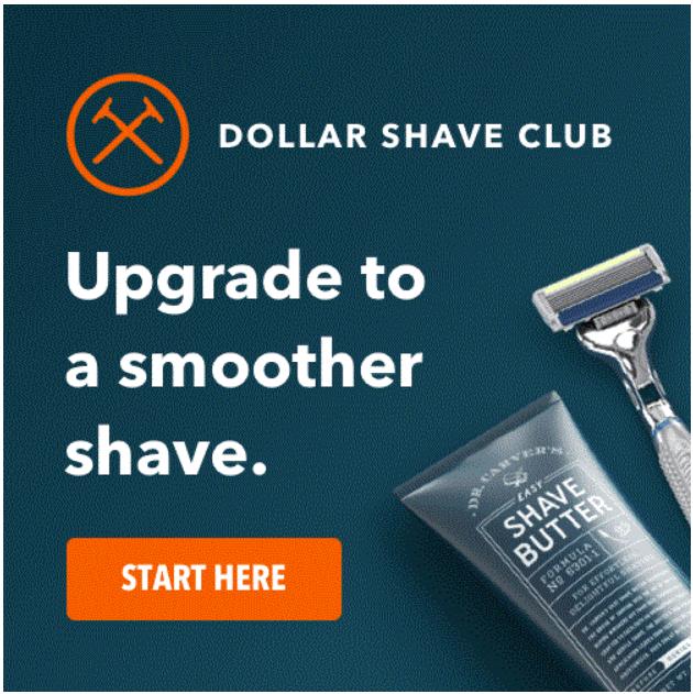 Dollar Shave Club Shave Starter Set for only $5.00