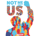 "FREE ""Not me. Us."" Sticker"