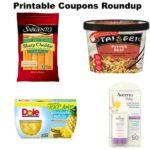 Printable Coupons Roundup: Dole, Sargento, Tai Pei, José Olé® & More