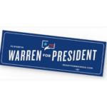 FREE Elizabeth Warren for President Sticker