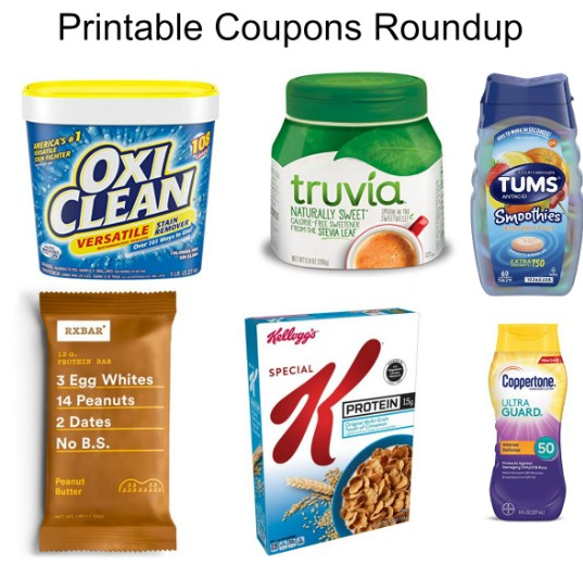 picture about Oxiclean Printable Coupon known as Printable Discount codes Roundup: Kelloggs, Truvia, OxiClean