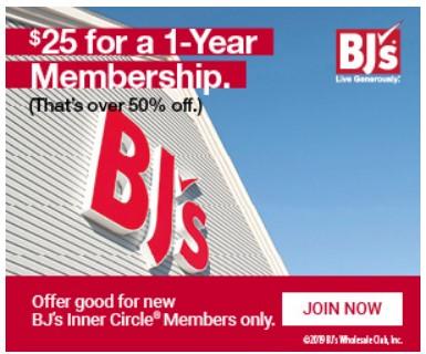 BJ's Inner Circle® Membership 55% Off