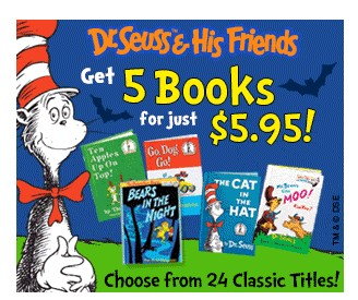 Dr Seuss – 5 Books for $5.95 + Free Activity Book