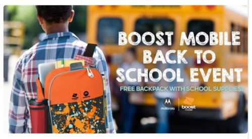 Free Backpacks with School Supplies at Boost Mobile