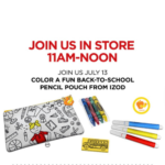 JCPenney Kids Event FREE Back-To-School Pencil Pouch on 7/13