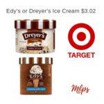 Target: Edy's or Dreyer's Ice Cream $3.02