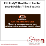 FREE A&W Root Beer Float for Your Birthday When You Join
