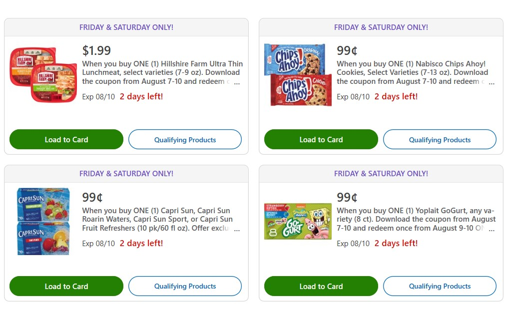 photograph regarding Chips Ahoy Coupons Printable identified as Kroger Coupon Promotions August 9 10 - $0.99 Capri Sunshine or Chips