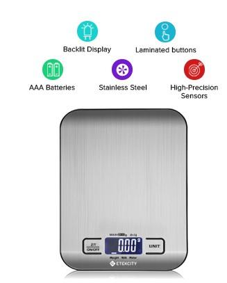 Etekcity Food Digital Kitchen Weight $8.98 {Reg $19}