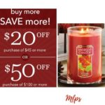 Yankee Candle: $50 Off Your Purchase of $100