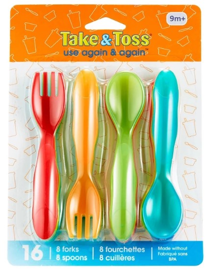 The First Years Take & Toss Flatware 16ct $1.99