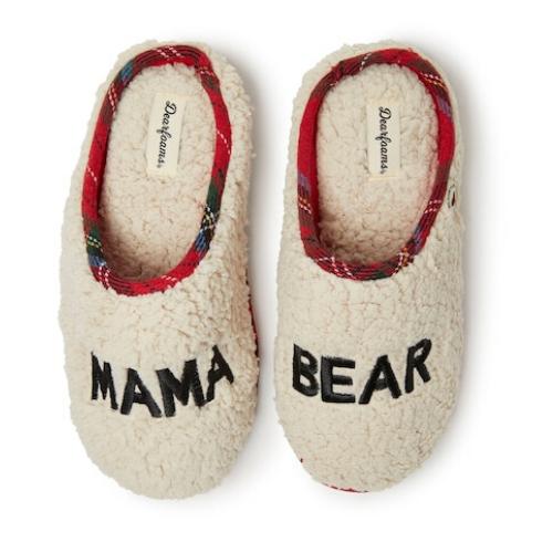 Kohl's Women's Dearfoams Mama Bear Plaid Clog Slippers for $8.49