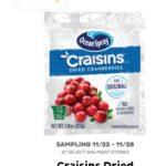 Freeosk: Free Ocean Spray Craisins Dried Cranberries at Walmart