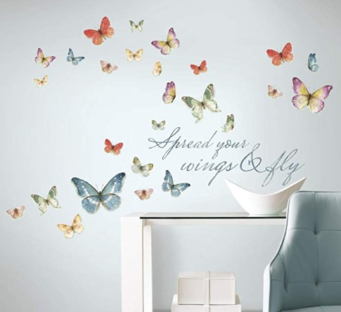 Butterfly Quote Peel And Stick Wall Decals $5.49 {Reg $14}