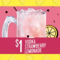 Applebee's $1 Vodka Strawberry Lemonade
