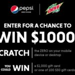 Instantly Win a $1,000 Visa Gift Card from Pepsi