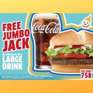 FREE Jumbo Jack at Jack-In-The-Box